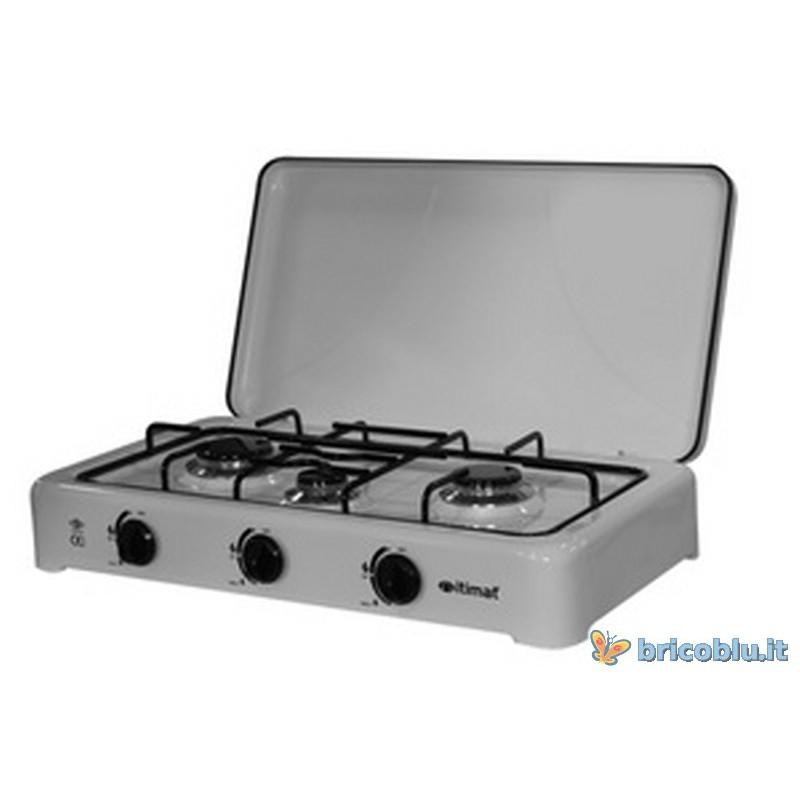 Fornello a gas 3 fuochi portatile brico blu - Fornello ad induzione portatile ...