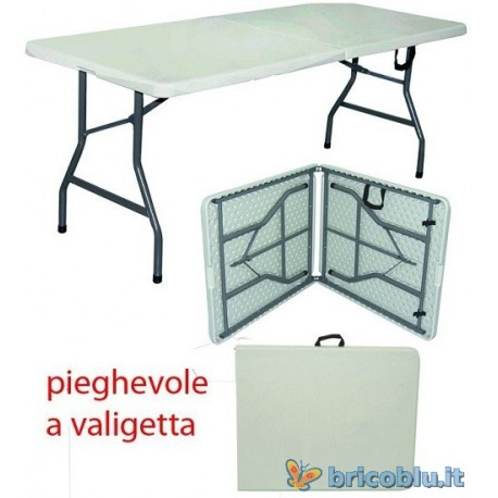 Tavoli In Resina Pieghevoli.Tavolo Pieghevole A Valigetta Brico Blu