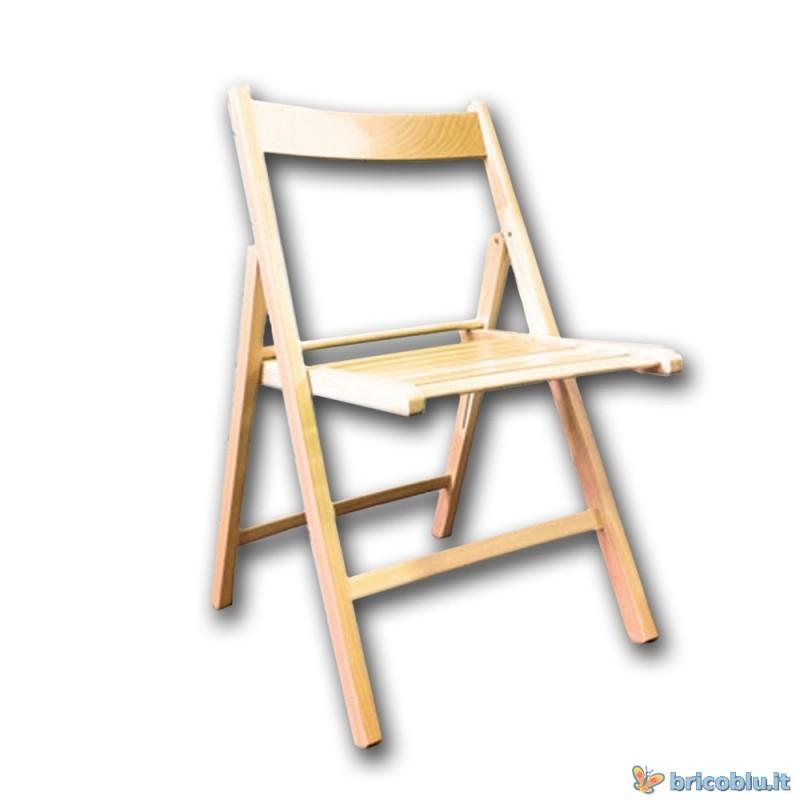 Sedia in legno pieghevole brico blu for Sedia e un nome primitivo o derivato