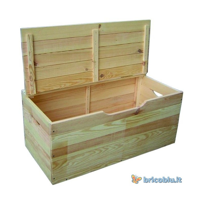 cassapanca baule in legnocm 100 x 50 x 40 h brico blu