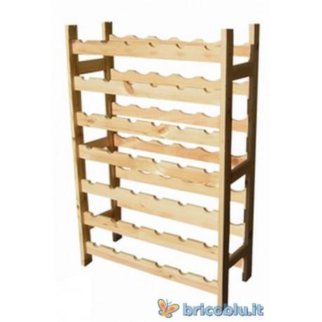 Cantinetta portabottiglie in legno 42 posti brico blu - Costruire un portabottiglie in legno ...