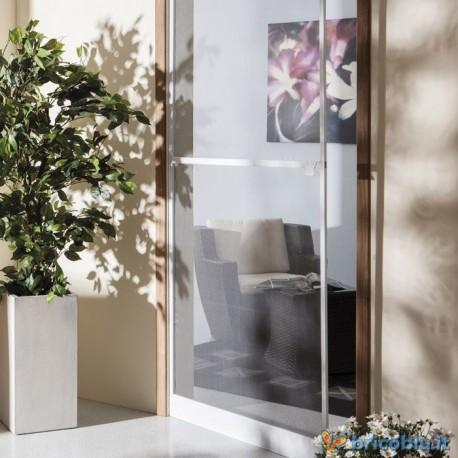 Zanzariera porta battente cm 150x250 riducibile marrone for Porta 240 cm