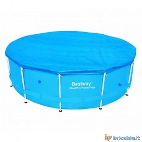 Telo copri piscina d cm 366 bestway brico blu - Telo copri piscina ...