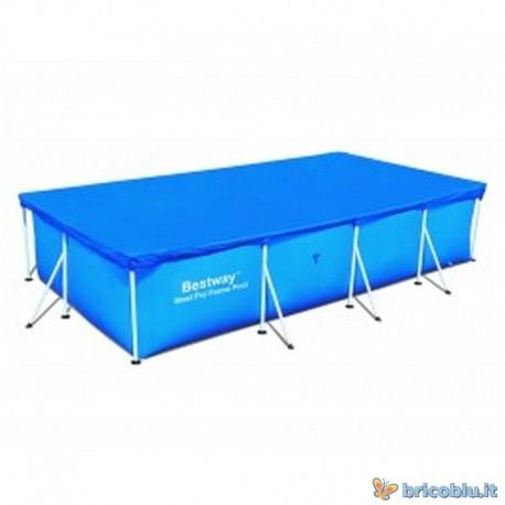 Telo copri piscina rett cm 400x211 bestway 58107 brico blu - Telo copri piscina ...