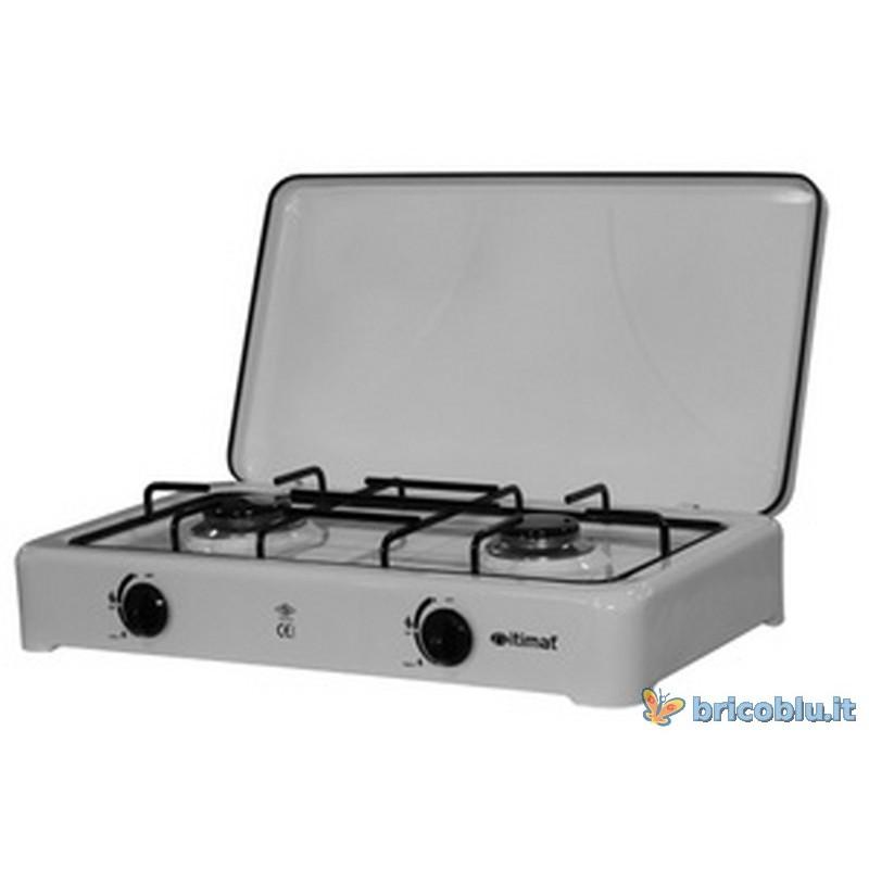Fornello a gas 2 fuochi portatile brico blu - Fornello ad induzione portatile ...