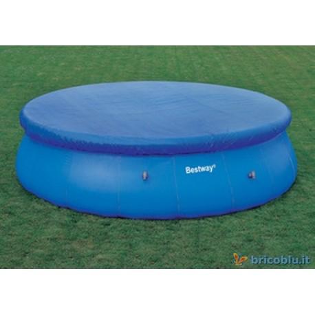 Telo copri piscina gonfiabile d 305 brico blu - Telo copri piscina ...